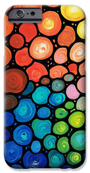 Abstracts iPhone Cases - Rivers Edge iPhone Case by Sharon Cummings