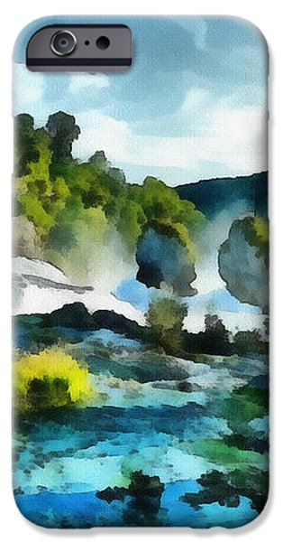 Riverscape iPhone Case by Ayse Deniz