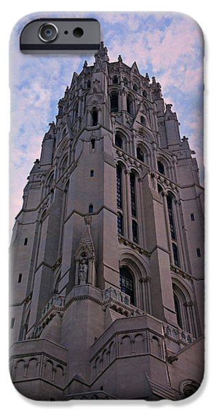 Hudson River iPhone Cases - Riverside Church iPhone Case by Stephen Stookey