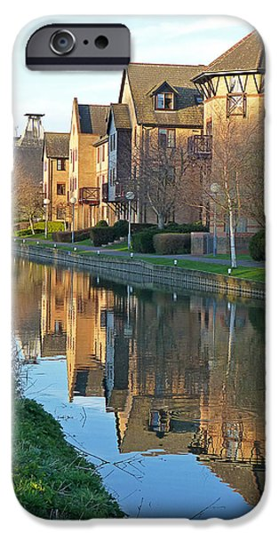 Reflections In River iPhone Cases - Riverside Home Reflections Vertical iPhone Case by Gill Billington
