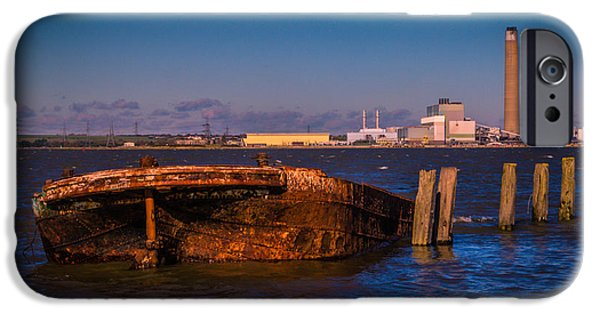 Chatham iPhone Cases - Riverside Wreck iPhone Case by Dawn OConnor