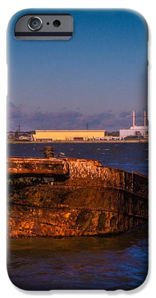 Riverside Wreck iPhone Case by Dawn OConnor