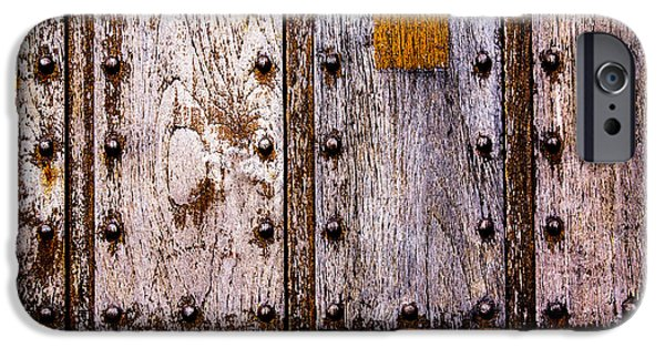 iPhone Cases - Riveted Weathered Door iPhone Case by Hakon Soreide