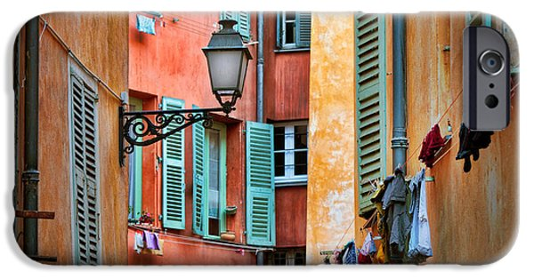 Facade iPhone Cases - Riviera Alley iPhone Case by Inge Johnsson