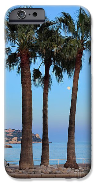 Sea Moon Full Moon iPhone Cases - Riviera Romance iPhone Case by Inge Johnsson