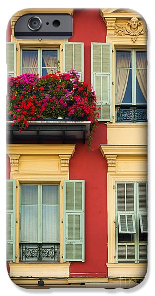 Facade iPhone Cases - Riviera Windows iPhone Case by Inge Johnsson