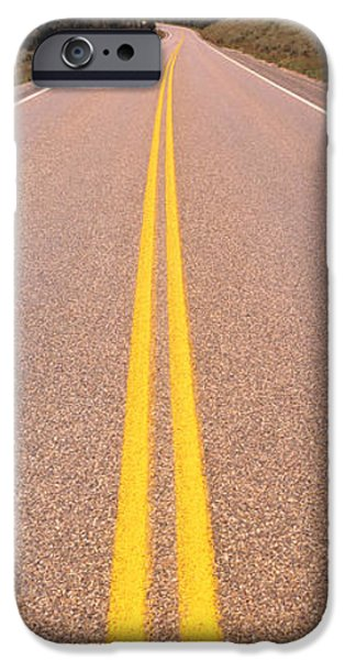 Thoroughfare iPhone Cases - Road Grand Teton National Park Wy iPhone Case by Panoramic Images