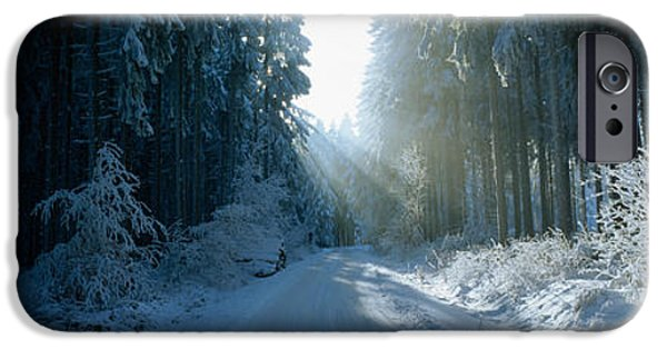 Pathway iPhone Cases - Road, Hochwald, Germany iPhone Case by Panoramic Images