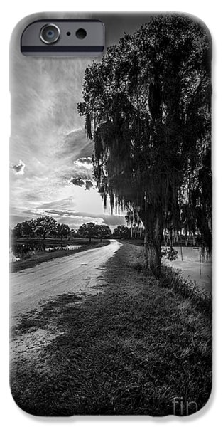 Asphalt Photographs iPhone Cases - Road Into The Light-bw iPhone Case by Marvin Spates
