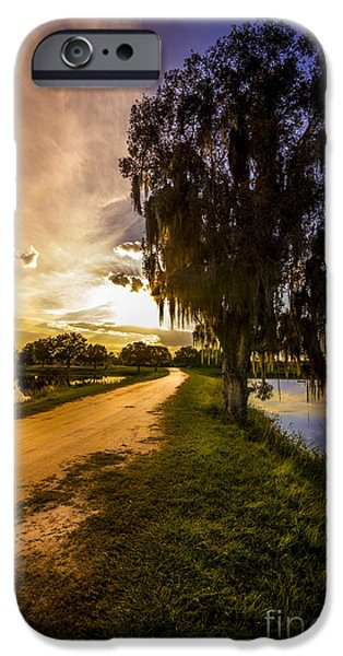 Winter Storm iPhone Cases - Road Into The Light iPhone Case by Marvin Spates