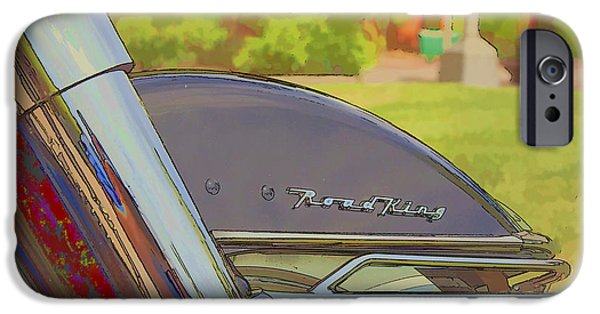 Fort Collins Digital Art iPhone Cases - Road King iPhone Case by J Michael Nettik