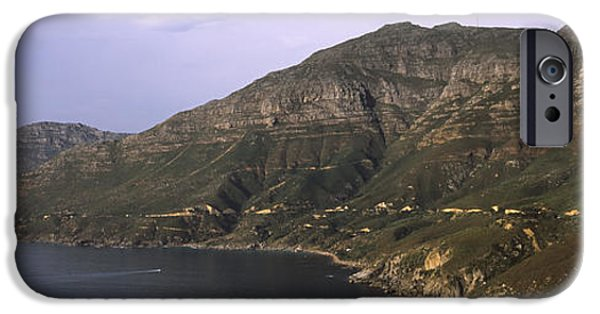 Cape Town iPhone Cases - Road Leading Towards A Mountain Peak iPhone Case by Panoramic Images