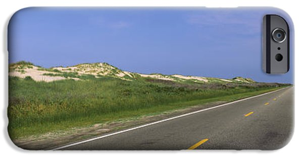 Connection iPhone Cases - Road Passing Through A Landscape, North iPhone Case by Panoramic Images