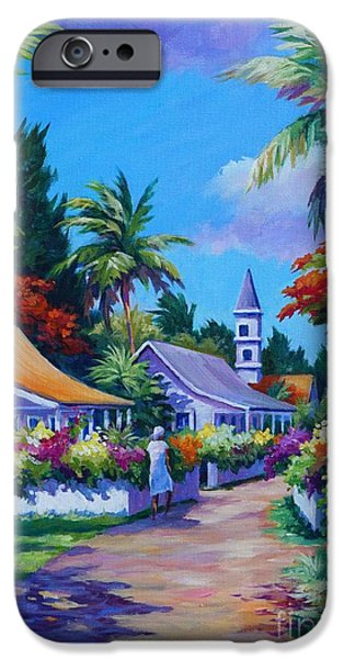 West Indies iPhone Cases - Road Through Eden iPhone Case by John Clark