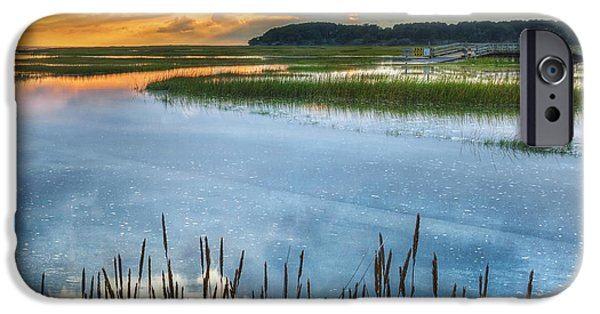 Cape Cod iPhone Cases - Road to Lieutenant Island Square iPhone Case by Bill  Wakeley