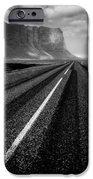 Road Travel iPhone Cases - Road to Nowhere iPhone Case by Dave Bowman