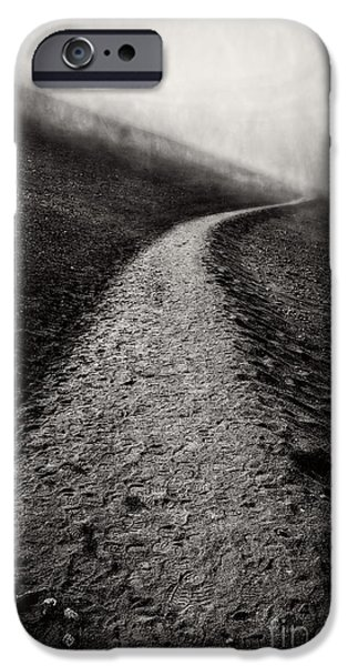 Fog Mist iPhone Cases - Road to Nowhere Haleakala National Park Maui Hawaii iPhone Case by Edward Fielding