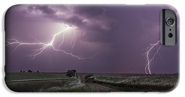 Close iPhone Cases - Road to Nowhere - Lightning iPhone Case by Aaron J Groen