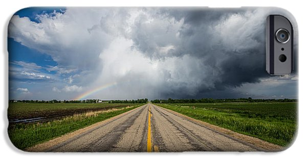 Minnesota iPhone Cases - Road to Nowhere  Supercell iPhone Case by Aaron J Groen