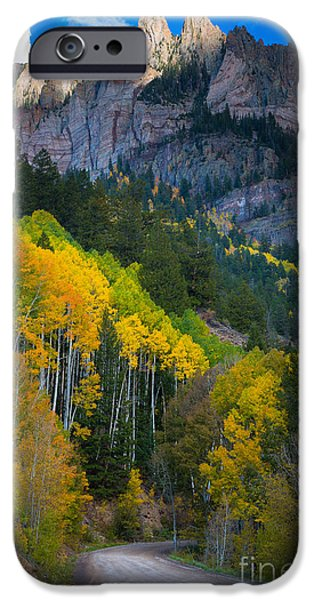 North America Photographs iPhone Cases - Road to Silver Mountain iPhone Case by Inge Johnsson