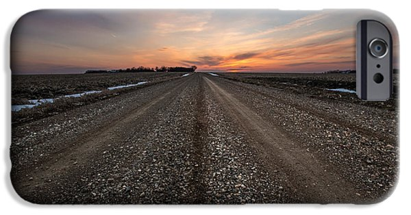 Canon iPhone Cases - Road to Sunset iPhone Case by Aaron J Groen