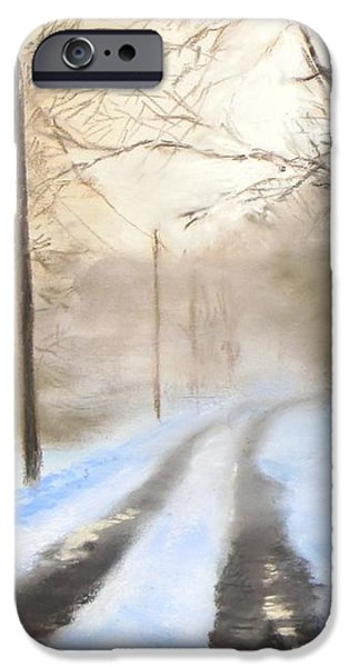 Road to the Ice House iPhone Case by Jack Skinner