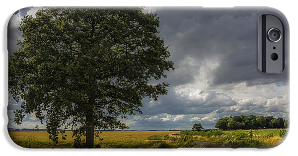 Field. Cloud iPhone Cases - Roadside iPhone Case by Chris Fletcher
