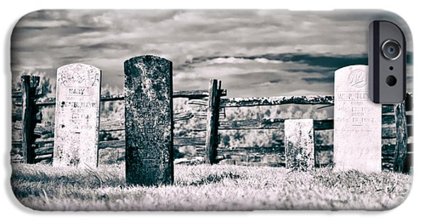 Headstones iPhone Cases - Roadside Memories iPhone Case by Dan Carmichael