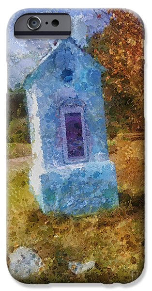 Field. Cloud iPhone Cases - Roadside Shrine iPhone Case by Mo T