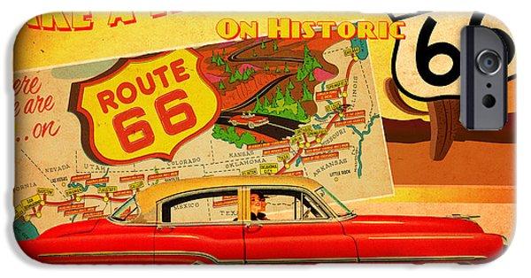 Retro Art iPhone Cases - Roadtrip iPhone Case by Cinema Photography