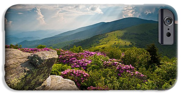 Best Sellers -  - Dave iPhone Cases - Roan Mountain from Appalachian Trail near Janes Bald iPhone Case by Dave Allen