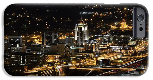 City Scape Photographs iPhone Cases - Roanoke Virginia iPhone Case by Brendan Reals