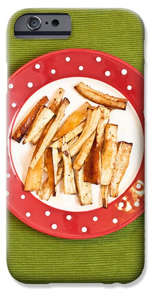 Chip iPhone Cases - Roast parsnips iPhone Case by Tom Gowanlock
