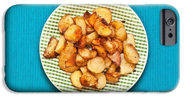 Chip iPhone Cases - Roast potatoes iPhone Case by Tom Gowanlock