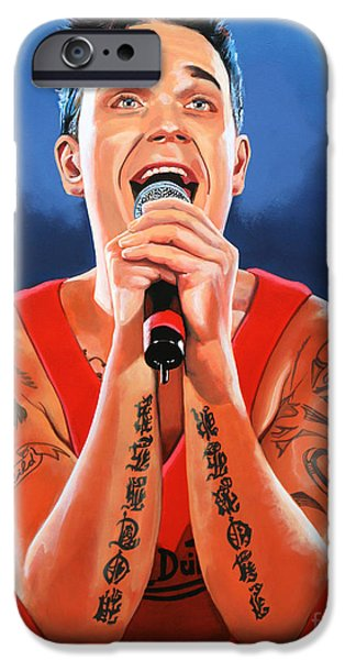 Crown iPhone Cases - Robbie Williams iPhone Case by Paul  Meijering