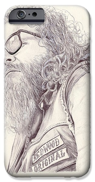 Kim Drawings iPhone Cases - Robert Bobby Munson iPhone Case by Kyle Willis
