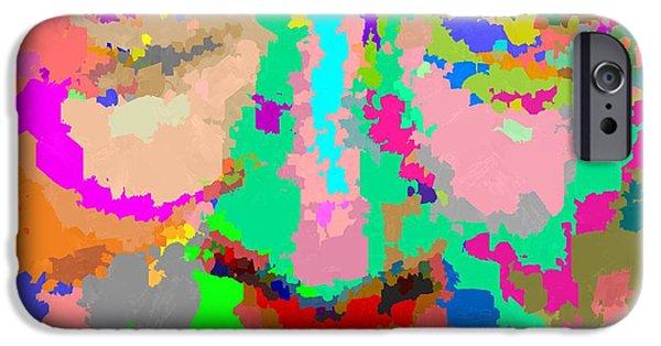 Robert De Niro Paintings iPhone Cases - Robert De Niro - Abstract iPhone Case by Samuel Majcen