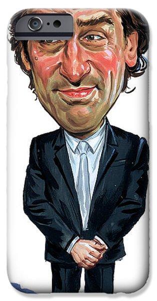 Robert De Niro Paintings iPhone Cases - Robert De Niro iPhone Case by Art