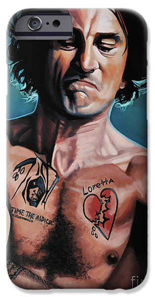 The Godfather Paintings iPhone Cases - Robert de Niro in Cape Fear iPhone Case by Paul Meijering