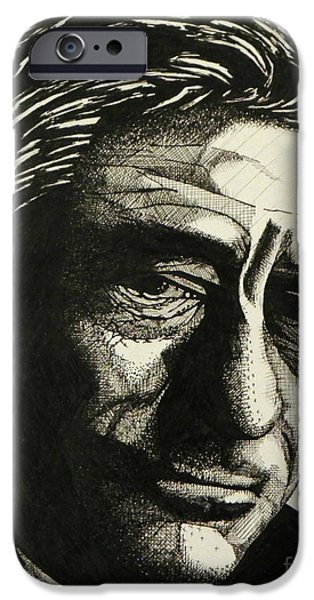 Robert De Niro Drawings iPhone Cases - Robert De Niro iPhone Case by Ken Nguyen