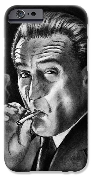 Robert De Niro Drawings iPhone Cases - Robert De Niro iPhone Case by Salman Ravish