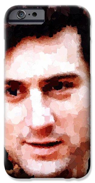 Robert De Niro Paintings iPhone Cases - Robert De Niro iPhone Case by Samuel Majcen