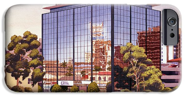 Glass Reflections iPhone Cases - Robert F Driver Building iPhone Case by Mary Helmreich