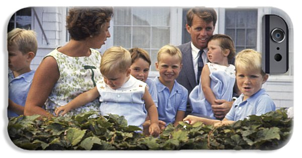 Cape Cod iPhone Cases - Robert F. Kennedy and Family 1959 iPhone Case by The Phillip Harrington Collection