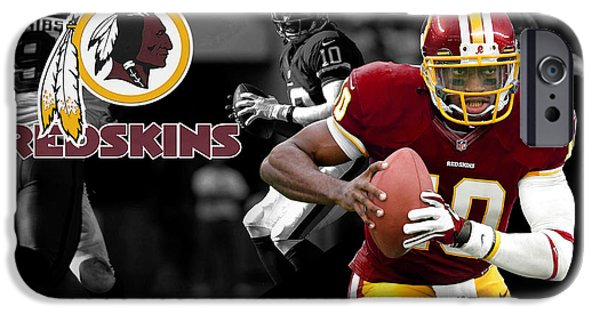 Griffin iPhone Cases - Robert Griffin Iii Redskins iPhone Case by Joe Hamilton