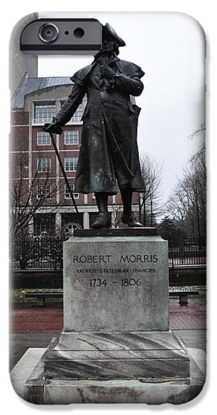 American Revolution Digital Art iPhone Cases - Robert Morris Financier of the American Revolution iPhone Case by Bill Cannon