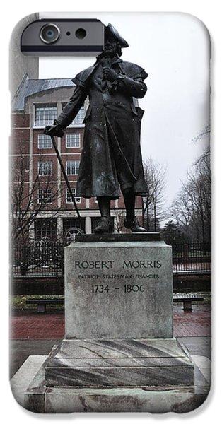 Robert Morris Financier of the American Revolution iPhone Case by Bill Cannon