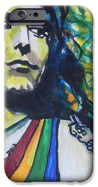 Robert Plant Paintings iPhone Cases - Robert Plant.. Led Zeppelin iPhone Case by Chrisann Ellis
