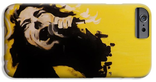 Robert Plant Paintings iPhone Cases - Robert Plant iPhone Case by Matt Burke
