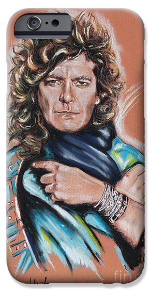 Robert Plant iPhone Cases - Robert Plant iPhone Case by Melanie D